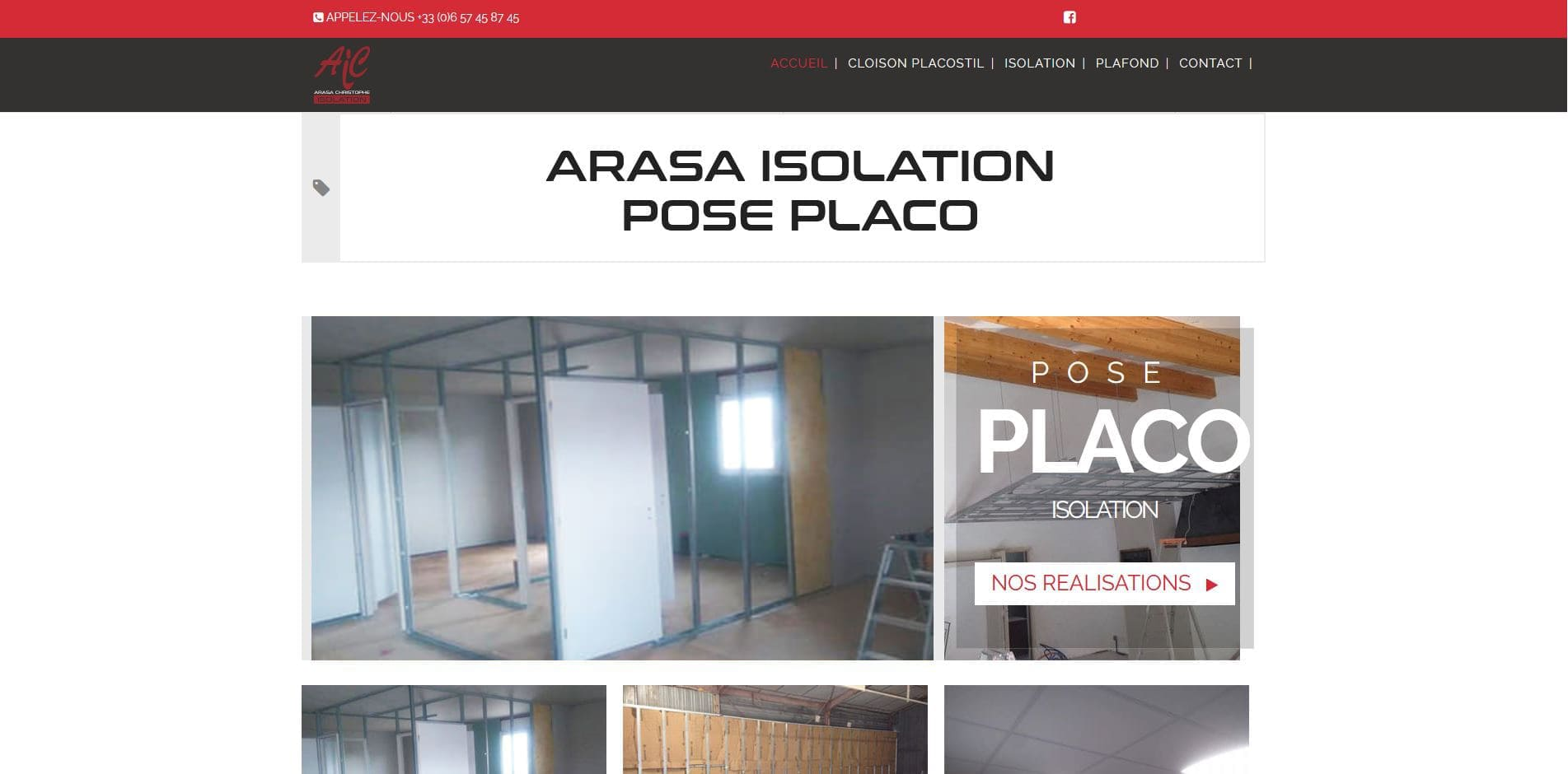 création site internet Arasa Isolation