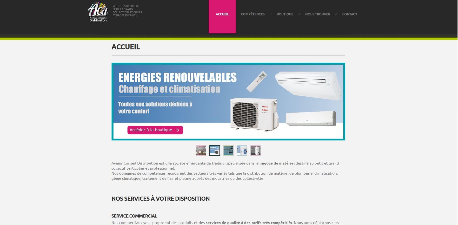 création site internet  Avenir conseil distribution 66