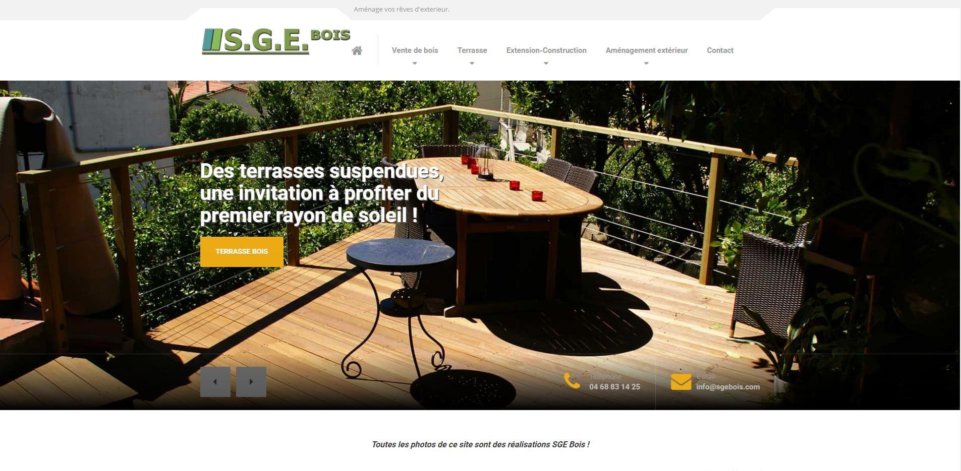 création site internet SGE bois