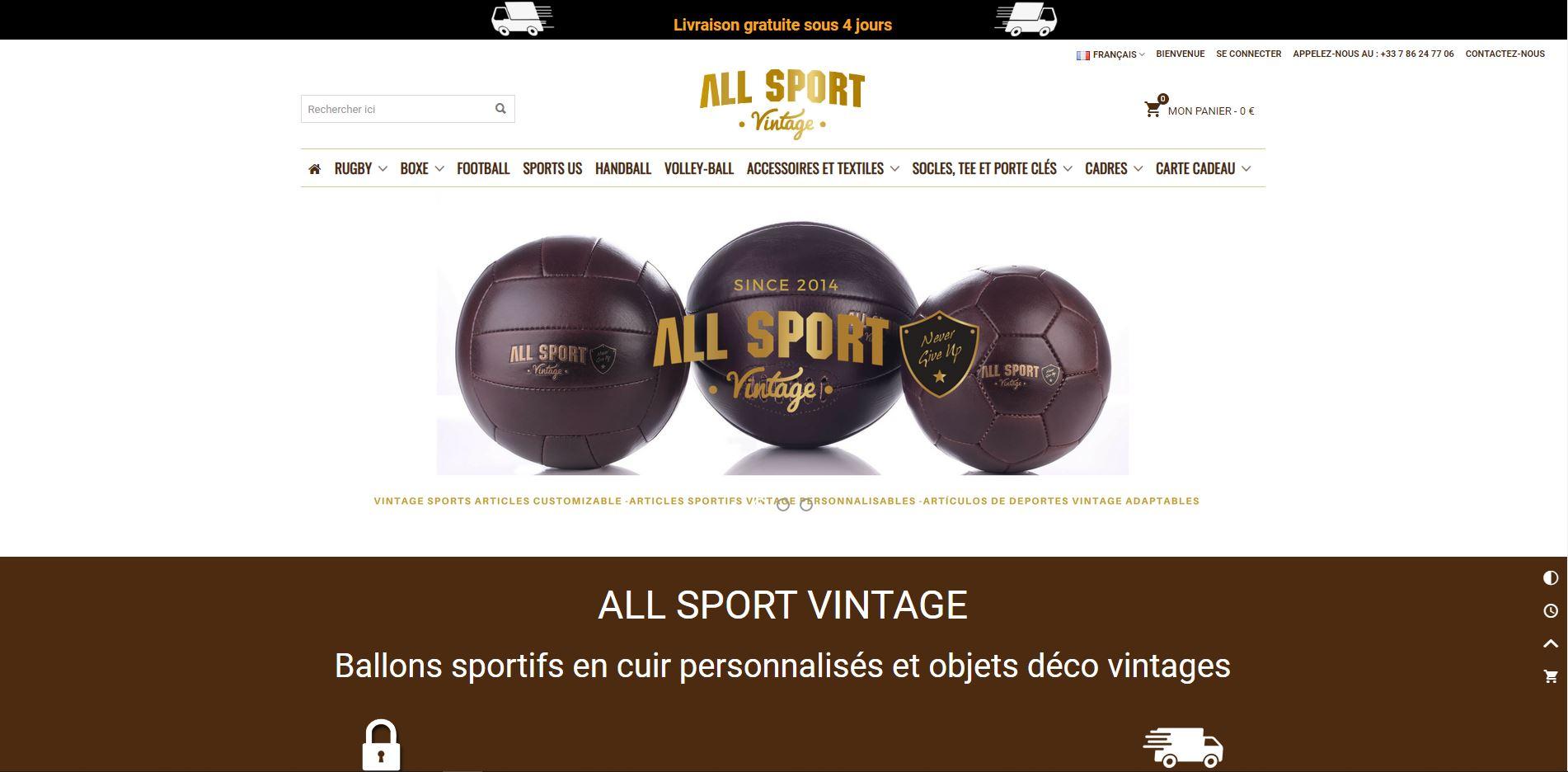 Création de site internet all sport vintage Perpignan 66