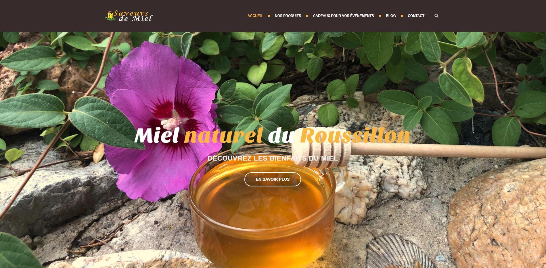 Création du site internet saveurs de miel à Perpignan 66