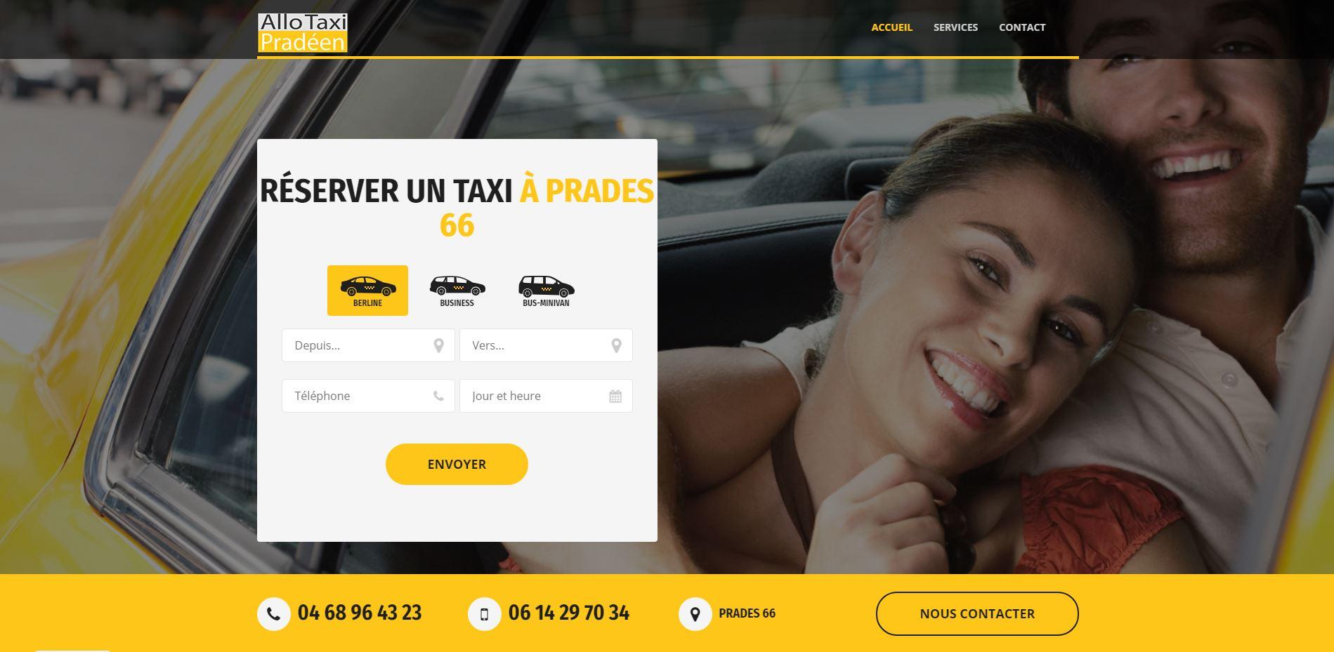 Création du site internet taxi Prades à Perpignan 66