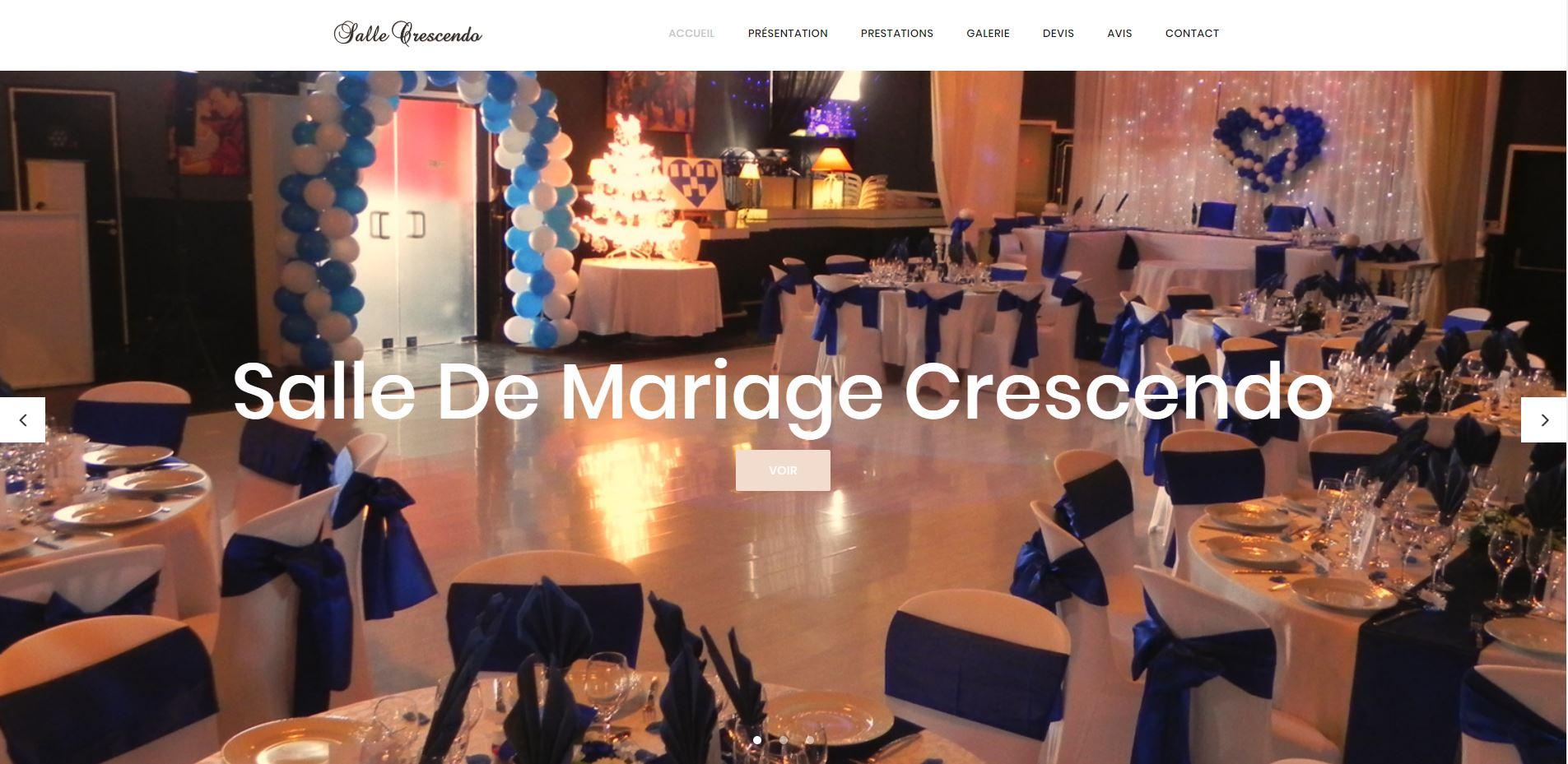 Création du site internet Salle de mariage Crescendo à Perpignan 66
